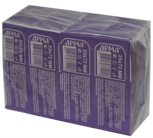 Купить Лейкопластырь медицинский бактерицидный на полимерной основе с хлоргексидина биглюконатом арма телесный 25х72мм n200 цена