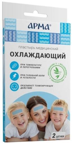 Купить Пластырь медицинский охлаждающий с эвкалиптом арма 11х4см n2 цена