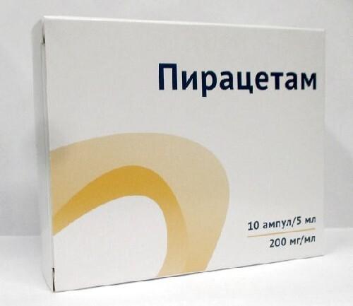 Купить Пирацетам 0,2/мл 5мл n10амп р-р в/в в/м /озон/ цена