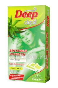 Купить Deep depil восковые полоски для депиляции лица с алоэ вера n20 цена