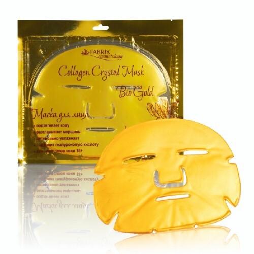 Купить Коллагеновая маска для лица с био золотом collagen crystal mask bio gold n1 цена