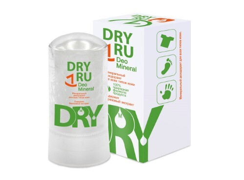 Купить Dryru deo mineral минеральный  дезодорант для всех типов кожи 60,0 цена