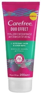Купить Duo effect гель для ежедневной интимной гигиены с зеленым чаем и алоэ вера 200мл цена