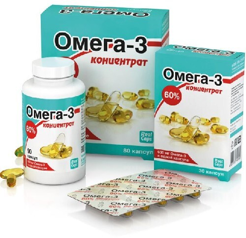 Купить Омега-3 концентрат 60% 1,0 n90+n80+n30 капс/промо цена