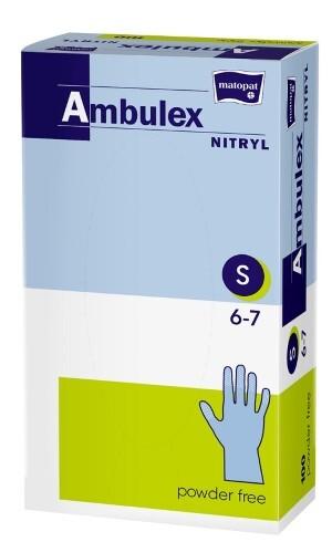 Купить Перчатки смотровые ambulex nitryl нитриловые нестерильные неопудренные s n50 пар цена