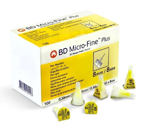 Иглы для шприц-ручки bd micro-fine plus 30g 0,30х8мм одноразового использования n100