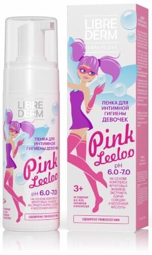 Купить Pink leeloo пенка для интимной гигиены девочек рн 6,0-7,0 160 мл цена