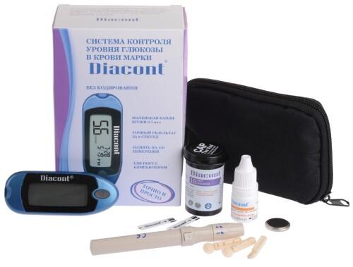 Купить Глюкометр diacont mini (диаконт) /набор/ цена