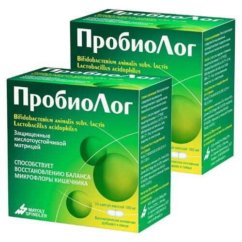 Набор из 2х упаковок ПРОБИОЛОГ N30 КАПС по специальной цене