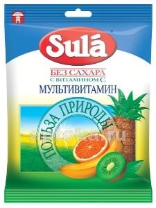 Леденцы sula б/сахара 60,0 /мультивитамин/