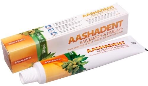 Купить Зубная паста кардамон и имбирь аashadent 100,0 цена