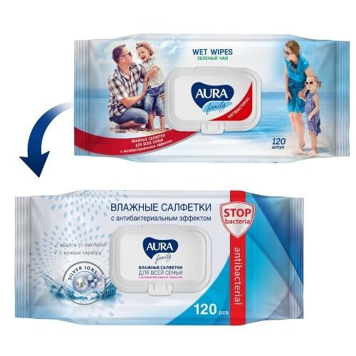 Купить Влажные салфетки family антибактериальные для всей семьи n120 с крышкой цена