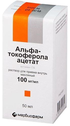 Купить АЛЬФА-ТОКОФЕРОЛА АЦЕТАТ 0,1/МЛ 50МЛ ФЛАК Р-Р МАСЛ цена