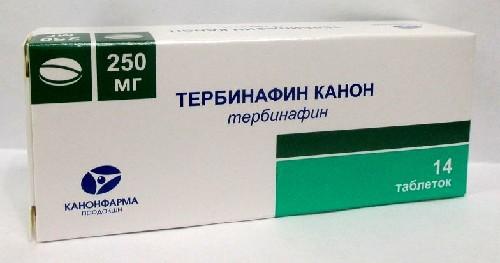 Купить ТЕРБИНАФИН КАНОН 0,25 N14 ТАБЛ цена