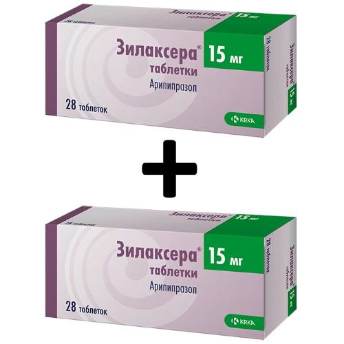 Купить Набор из 2 упаковок ЗИЛАКСЕРА 0,015 N28 ТАБЛ по специальной цене цена