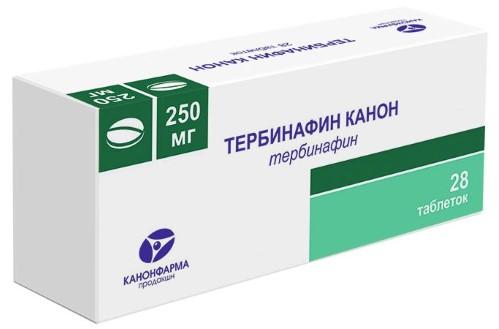 Купить ТЕРБИНАФИН КАНОН 0,25 N28 ТАБЛ цена