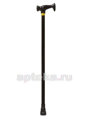 Купить Трость amcт23 инвалидная телескопическая металлическая ортопедическая с пластиковой рукояткой /черная/ цена