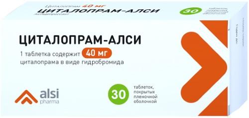 Купить ЦИТАЛОПРАМ-АЛСИ 0,04 N30 ТАБЛ П/ПЛЕН/ОБОЛОЧ цена