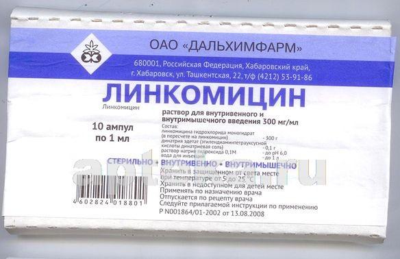 Купить ЛИНКОМИЦИН 0,3/МЛ 1МЛ N10 АМП Р-Р В/В В/М/ДАЛЬХИМ цена