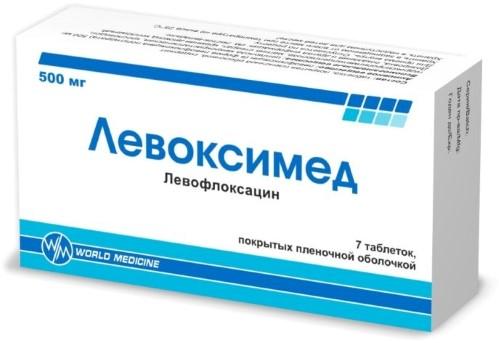 Купить ЛЕВОКСИМЕД 0,5 N7 ТАБЛ П/ПЛЕН/ОБОЛОЧ цена