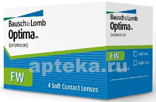 Купить Optima fw контактные линзы плановой замены цена