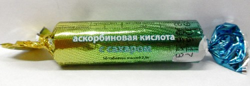 Купить АСКОРБИНОВАЯ К-ТА С САХАРОМ ЭКО N10 ТАБЛ цена
