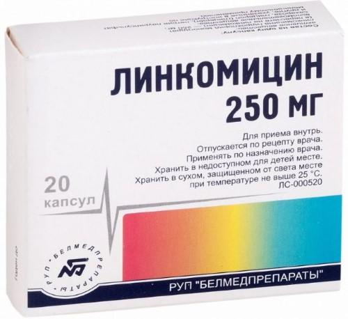 Купить ЛИНКОМИЦИН 0,25 N20 КАПС /БЕЛМЕД/ цена