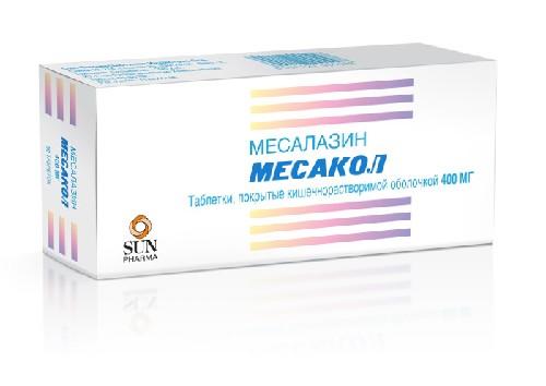 Купить МЕСАКОЛ 0,4 N50 ТАБЛ П/КИШЕЧНОРАСТВ/ОБОЛОЧ цена