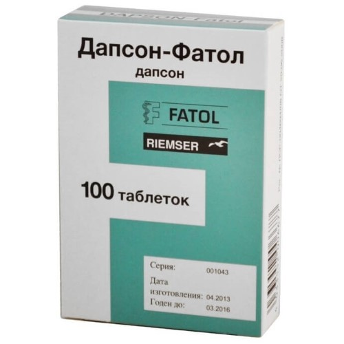 Купить ДАПСОН-ФАТОЛ 0,05 N100 ТАБЛ цена