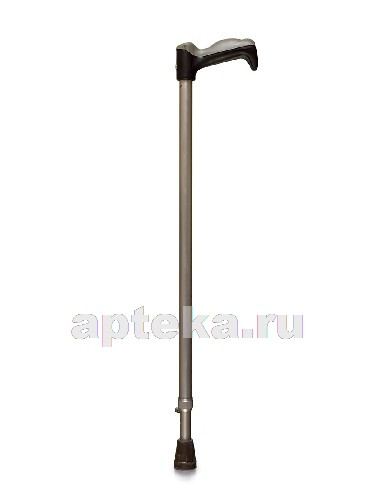 Трость amcс33 опорная металлическая с устройством против скольжения (упс)