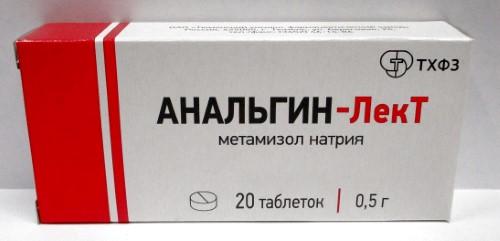 Купить АНАЛЬГИН-ЛЕКТ 0,5 N20 ТАБЛ цена