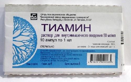 Купить ТИАМИН 0,05/МЛ 1МЛ N10 АМП Р-Р В/М/КОРОБКА/БОРИСОВ цена