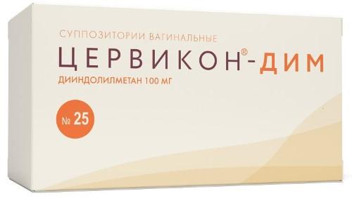 Купить ЦЕРВИКОН-ДИМ 0,1 N25 СУПП ВАГ цена