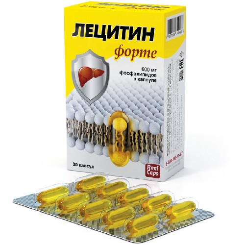 Купить ЛЕЦИТИН ФОРТЕ 1580 МГ N30 КАПС/РЕАЛКАПС/ цена