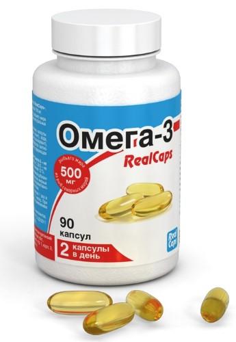 Купить ОМЕГА-3 REALCAPS N90 КАПС МАССОЙ 700МГ цена
