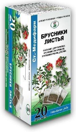 Купить БРУСНИКИ ЛИСТЬЯ 1,5 N20 Ф/ПАК /СТ-МЕДИФАРМ цена