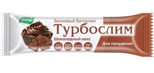 Купить ТУРБОСЛИМ БАТОНЧИК ДЛЯ ПОХУДЕНИЯ /ШОКОЛАДНЫЙ КЕКС/50,0 цена