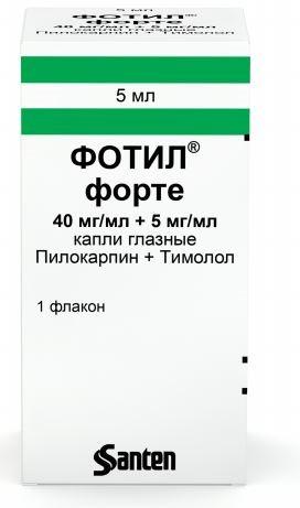 Купить ФОТИЛ ФОРТЕ 0,04+0,005/МЛ 5МЛ ФЛАК/КАП ГЛ КАПЛИ цена