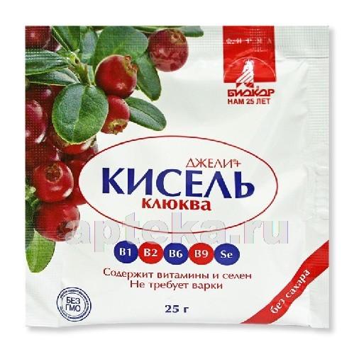 Купить ДЖЕЛИ+ КИСЕЛЬ КЛЮКВА 25,0 ПОРОШОК ГРАНУЛИРОВАННЫЙ цена
