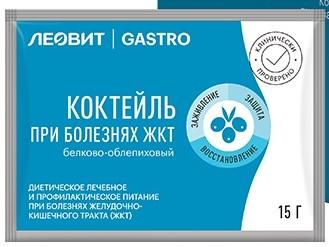 Купить ЛЕОВИТ GASTRO КОКТЕЙЛЬ БЕЛКОВО-ОБЛЕПИХОВЫЙ 15,0 ПАК цена