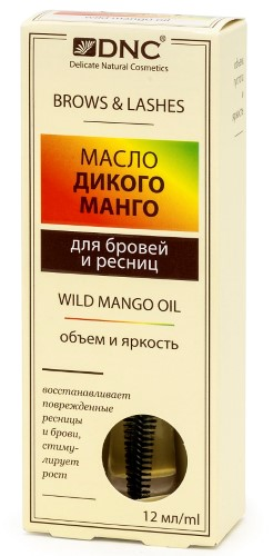 Купить DNC МАСЛО ДИКОГО МАНГО ДЛЯ БРОВЕЙ И РЕСНИЦ 12МЛ цена
