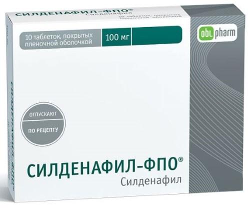 Купить Силденафил-фпо 0,1 n10 табл п/плен/оболоч цена