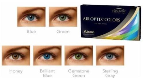 Купить Air optix colors цветные контактные линзы плановой замены цена