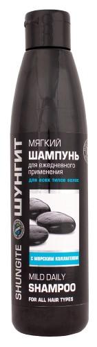 Купить Шампунь мягкий для всех типов волос шунгит 330мл цена