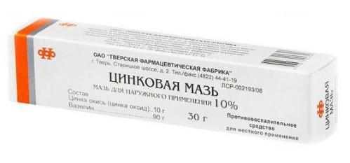 Купить ЦИНКОВАЯ МАЗЬ 10% 30,0 МАЗЬ Д/НАРУЖ ПРИМ /ТВЕРСКАЯ ФФ/ цена