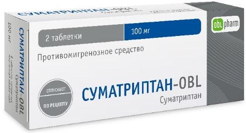 Купить СУМАТРИПТАН-OBL 0,1 N2 ТАБЛ П/ПЛЕН/ОБОЛОЧ цена