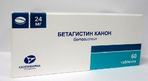 Купить БЕТАГИСТИН КАНОН 0,024 N60 ТАБЛ цена