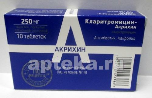 Купить Кларитромицин-акрихин цена