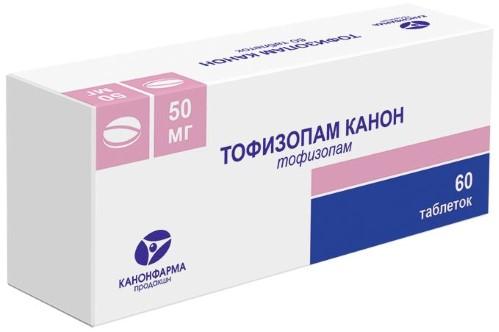 Купить ТОФИЗОПАМ КАНОН 0,05 N60 ТАБЛ цена