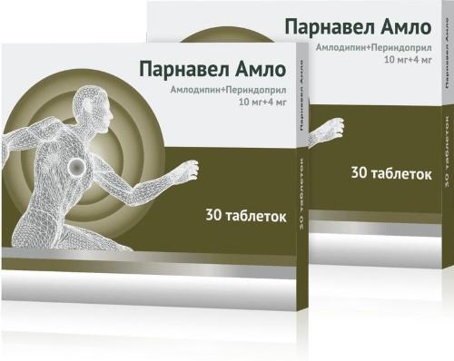 Купить Парнавел амло 0,01+ 0,004 n30 табл/1+1/ цена